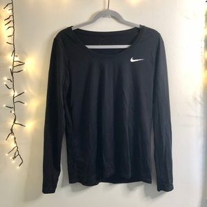 Nike black lightweight long sleeve